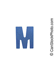 Isolated M capital letter