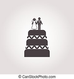 cake icon on white background