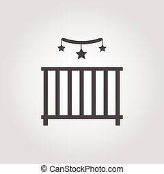 cot icon on white background for web