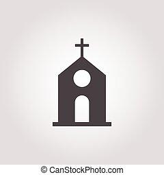 bianco, chiesa, fondo, icona