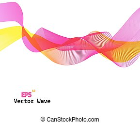 Abstract Colored Wave on Background. Vector Illustration.
