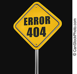 Error 404 road sign