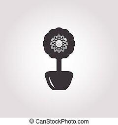 topiary icon on white background