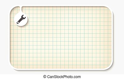 Text box for fill your text and graph paper