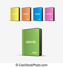 colored Software Boxes Package