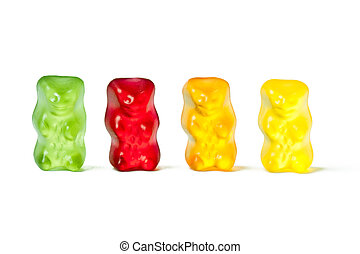 gummy bears - photo shot of gummy bears