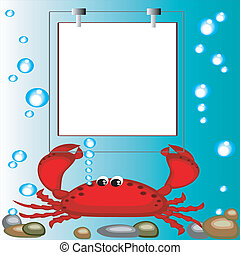 Frame with crab.