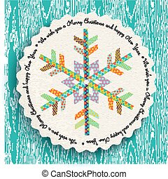 Merry Christmas and new year fun snowflake design
