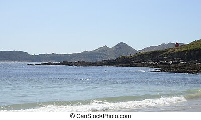 Island Cies seen from Melida beach - Island Cies view from...