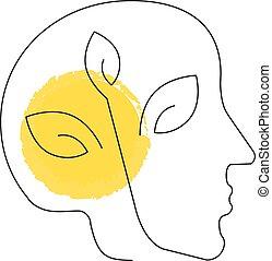 Human head, Pollution icon