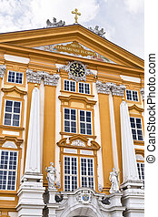 Melk Benedictine Abbey - Detail of the facade of the...