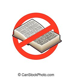 Stop read. It is forbidden to education. Red prohibition...