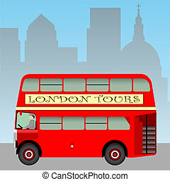 London Bus - A Red London Doubledecker Bus