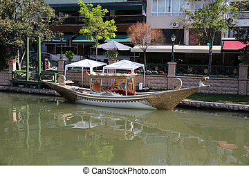 Porsuk River in Eskisehir - Gondola over Porsuk River in...