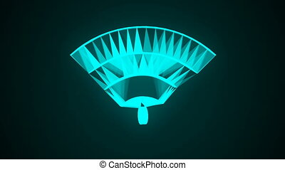 Wifi technology network icon animation. Seamless loop