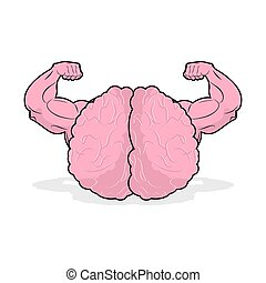 Strong brain athlete. powerful mind of athlete. Big Hands bodybuilding. potent marrow