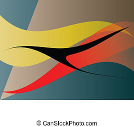 design element - abstract fliying bird