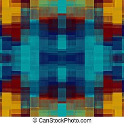 blue yellow and red plaid pattern abstract background