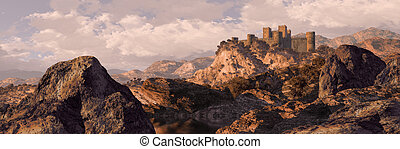 Spanish Castle Fortress - Castle fortress in the mountains...