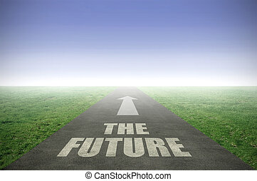 The future ahead - The future painted on an open road...