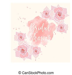 neptune - bridal shower card, illustration in vector format