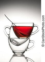 3 tea cups