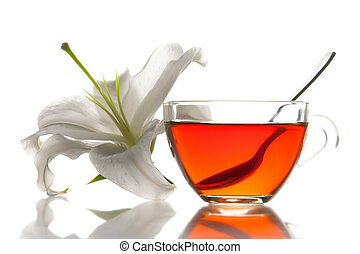 Tea cup and flower