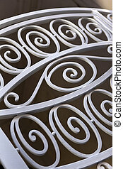 Wrought iron gate - Detail of a wrought iron gate of a...
