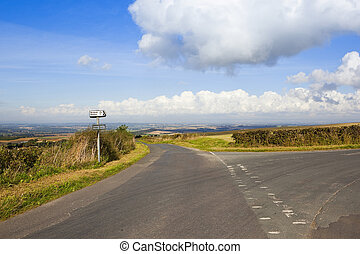 yorkshire wolds road - a hilltop road in the yorkshire wolds...