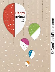 birthday poster with splitted balloons - Birthday poster...