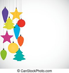 Abstract Beauty Christmas and  NeAbstract Beauty Christmas and  New Year Background with Decoration Toys and Balls. Vector Illustrationw Year Background with Decoration Toys. Vector Illustration