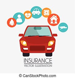 car security insurance - car vehicle security insurance icon...
