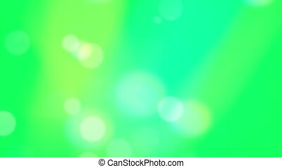 Green Bokeh Circles Abstract