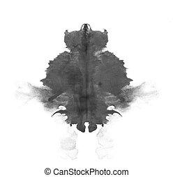 Rorschach inkblot test isolated - photo Rorschach inkblot...