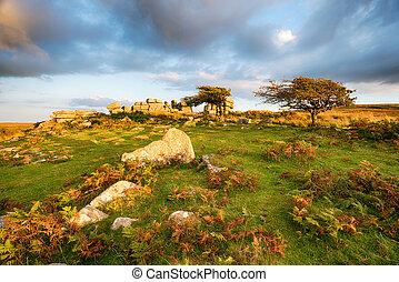 Combestone Tor in Devon - Combestone Tor on Dartmoor...