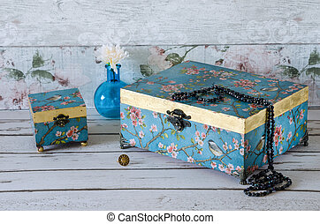 Handmade Jewllery Boxes - Hand made vintage style jewellery...