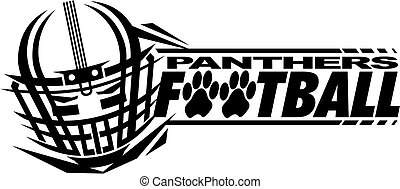 panthers football team design with helmet and facemask for...