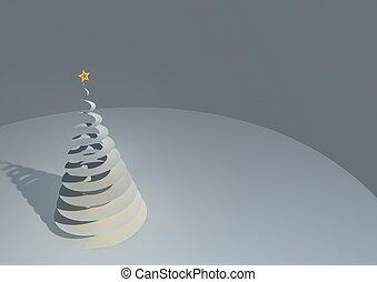 Illustration of a stylized spiral geometric Christmas tree...