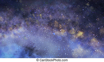 Misty clusters in saved. The galaxy in space