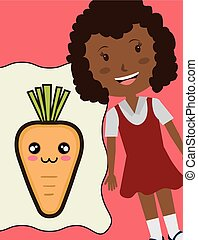 girl smiling with carrot