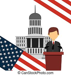 US presidential voting concept vector illustration design