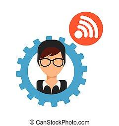 social media classic symbol