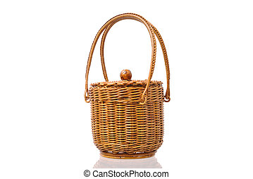Wicker basket - wicker basket isolated on a white background