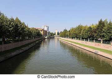 Porsuk River in Eskisehir - Porsuk River passing through...