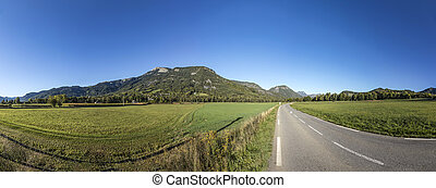skyline of Mountains at Seyne les Alpes in the french Region...