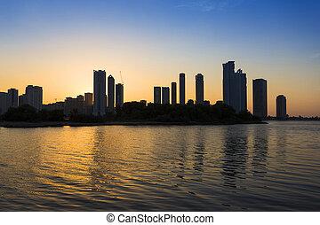 Skyscrapers in Sharjah city.UAE. - Skyscrapers in Sharjah...
