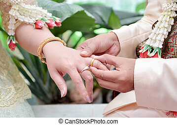 Wedding Ring - He Put the Wedding Ring on Her