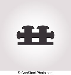 mooring bollard icon on white background for web