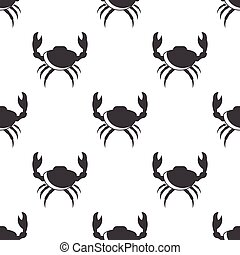 crab icon on white background for web