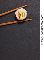 sushi and chopstick